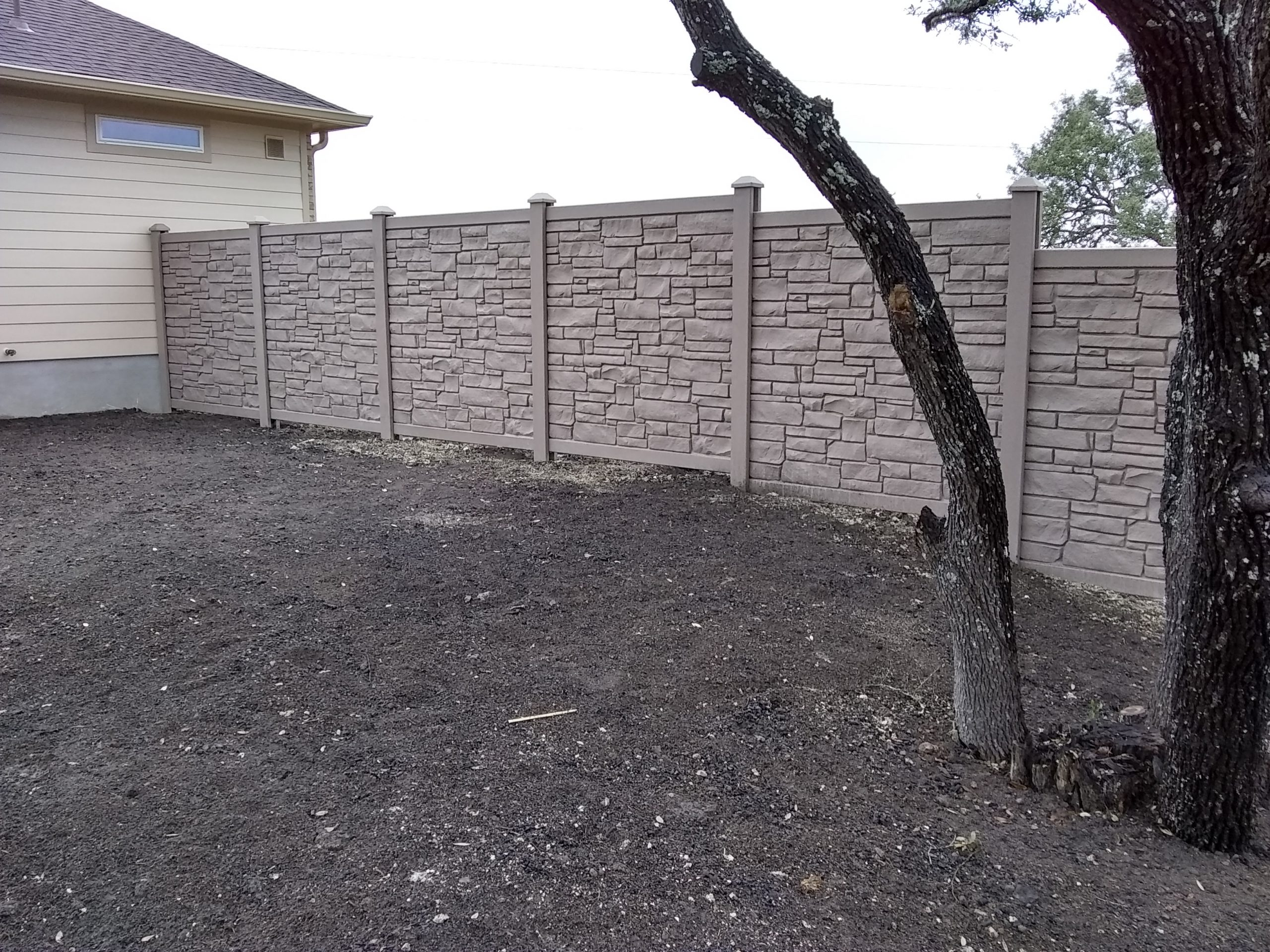 Simulated Stone Privacy Fences